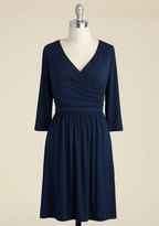 Gilli Inc Everywhere You Flow Jersey Dress in Navy