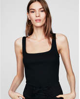 Express one eleven ribbed square neck tank