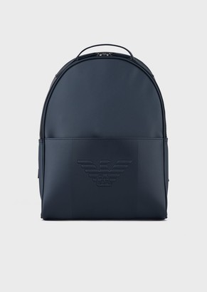 Emporio Armani Backpack With Front Pocket And Eagle Logo
