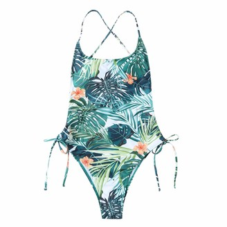 Ways Women Floral Printed Swimsuits V Neck One Piece Tummy Control Swimsuits for Women Swimsuit Cover Ups for Women Sexy Bikini Bathing Suits Plus Size(L