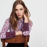 Sandro Silk shirt printed with roses