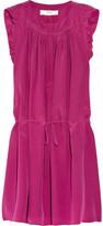 Athé Ruffled silk crepe de chine dress