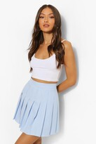 Thumbnail for your product : boohoo Gingham Woven Pleated Super Mini Tennis Skirt