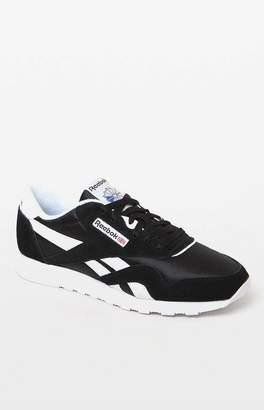 Reebok Classic Black and White Leather & Nylon Shoes