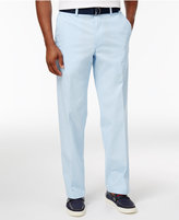 Haggar Men's Classic-Fit Poplin Belted Stretch Pants