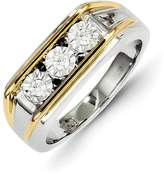 Ice 14k Two-tone Gold Diamond Mens Ring