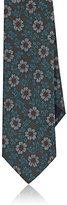Barneys New York Men's Floral Plain-Weave Necktie-DARK GREEN