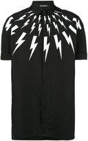 Neil Barrett lightning collar shirt - men - Cotton - 38