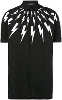 Neil Barrett lightning collar shirt - men - Cotton - 39