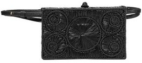 Sophie Anderson Mia Leather-trimmed Raffia Belt Bag