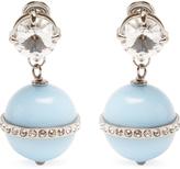 Miu Miu Bead and crystal-embellished drop earrings