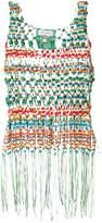 Mira Mikati beaded macrame shirt