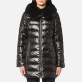 MICHAEL Michael Kors Women's Real Fur Medium Length Puffa Coat Black