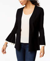 Charter Club Pleated Colorblocked Cardigan, Created for Macy's