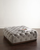 Horchow Opal Tufted Ottoman