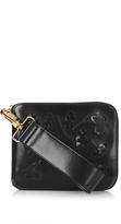 Simone Rocha Floral appliqué leather clutch