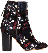 Isabel Marant Guya embroidered suede ankle boots