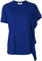 MSGM single frilled sleeve T-shirt - women - Cotton - XS