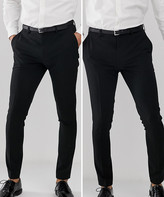 Asos Design DESIGN 2 pack super skinny trousers in black SAVE
