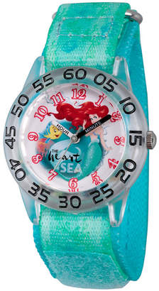 Disney Collection Ariel The Little Mermaid Girls Green Strap Watch-Wds000173