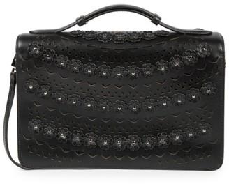 Alaia Medium Franca Floral Leather Shoulder Bag