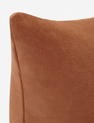 Lulu & Georgia Charlotte Velvet Lumbar Pillow, Burnt Orange
