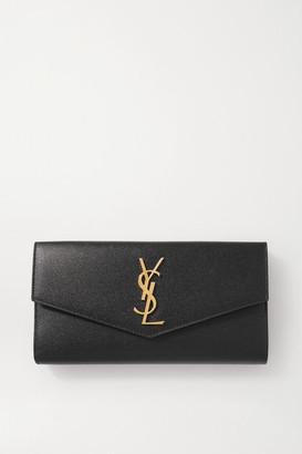 Saint Laurent Uptown Textured-leather Wallet - Black