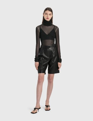 Helmut Lang Leather Wrap Shorts