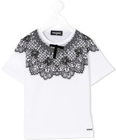 DSQUARED2 lace print T-shirt