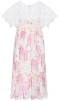 Giamba Printed Silk And Lace Dress
