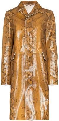 Marni snakeskin-print coat