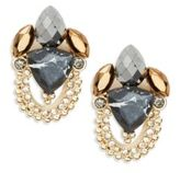 Jenny Packham Chain-Accented Cluster Earrings