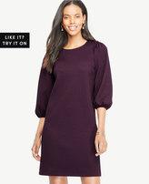 Ann Taylor Puff Sleeve Knit Dress