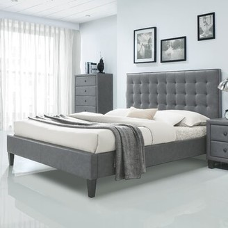 Brayden Studio Pinder Upholstered Platform Bed Size: King