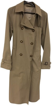 Ramosport Beige Cotton Trench Coat for Women Vintage