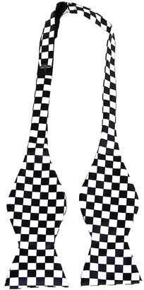 Generic Classic Black White Squares Self Tie Bow Tie 8#