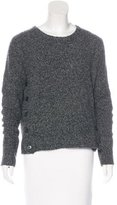 J Brand Crew Neck Button-Up Sweater