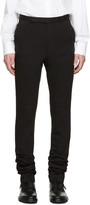 Paul Smith Black Extra-long Jersey Trousers