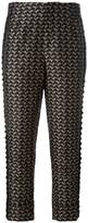 A.F.Vandevorst bird jacquard cropped trousers