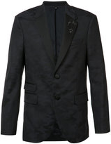 Neil Barrett camouflage trim suit jacket - men - Polyurethane/Wool - 48