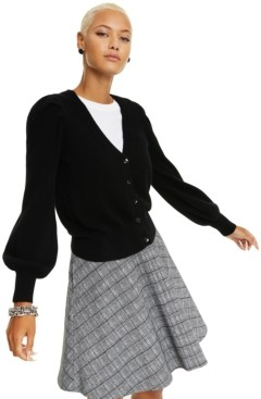 Charter Club Cashmere Balloon-Sleeve Cardigan, In Regular & Petite Sizes, Created For Macy's