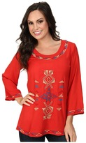 Scully Filia Embroidered Front and Back Top