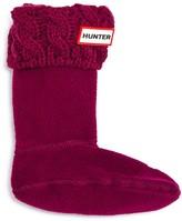Hunter Girls' Cable-Knit Cuff Fleece Boot Socks