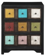 Bungalow Rose Witherspo 3 Drawer Apothecary Accent Chest