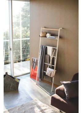 Yamazaki Tower Leaning Ladder With Shelf