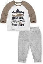 Coffee & White 'Moments' Raglan Tee & Pants - Infant & Toddler