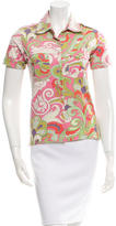 Etro Printed Button-Up Top w/ Tags