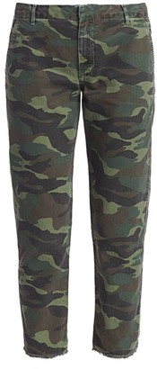 Sundry Camo Embellished-Stripe Trousers