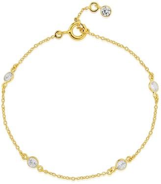 Auree Jewellery Sofia 18Ct Yellow Gold Vermeil & Cubic Zirconia Bracelet