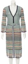 Missoni Abstract Pattern Open Knit Dress